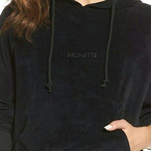 Brunette Velour Hoodie S/M